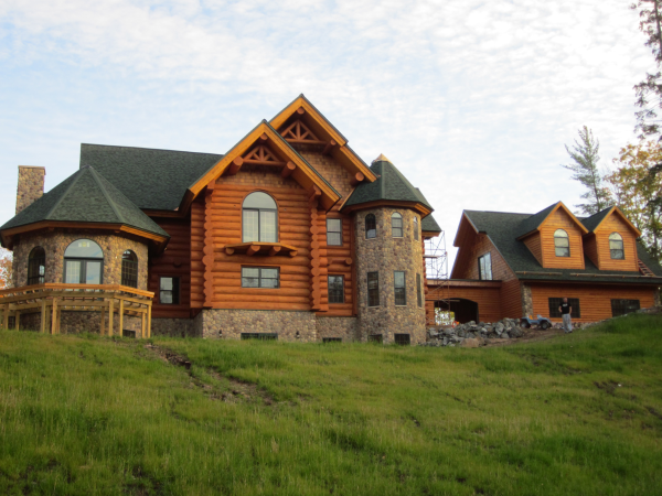 Frontier Log Home Finished By Intensified Wood Restoration