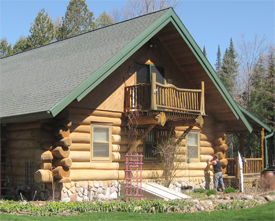 Log Home Restoration Services and Consultants: Log Home Restoration, Log Home Preparation, Environmentally Log Home Restoration, Log Home Repairs, Finish for New Log Homes, Rotted Log Replacement Services, & Maintenance for All Log Structures such as: Historic Log Cabins, Historic Log Homes, Modern Log Homes, Structures with Half Log Siding