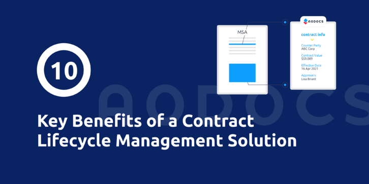 10 key benefits of a Contract Lifecycle Management Solution