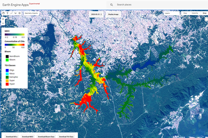 GEO-GEE project: Algae Bloom Monitoring Application