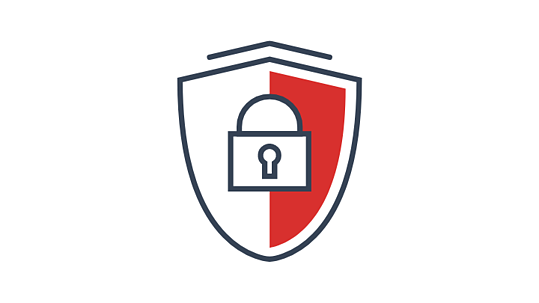 A padlock icon indicating increased security