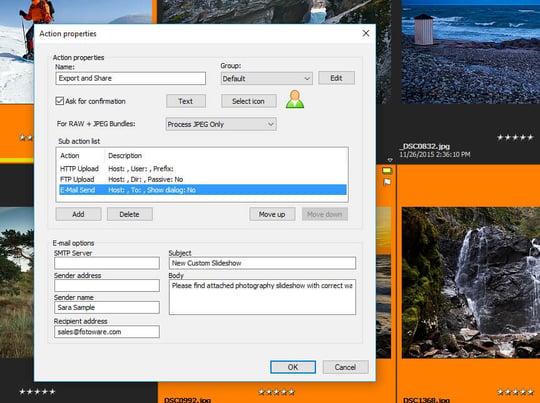 FotoStation Client export action