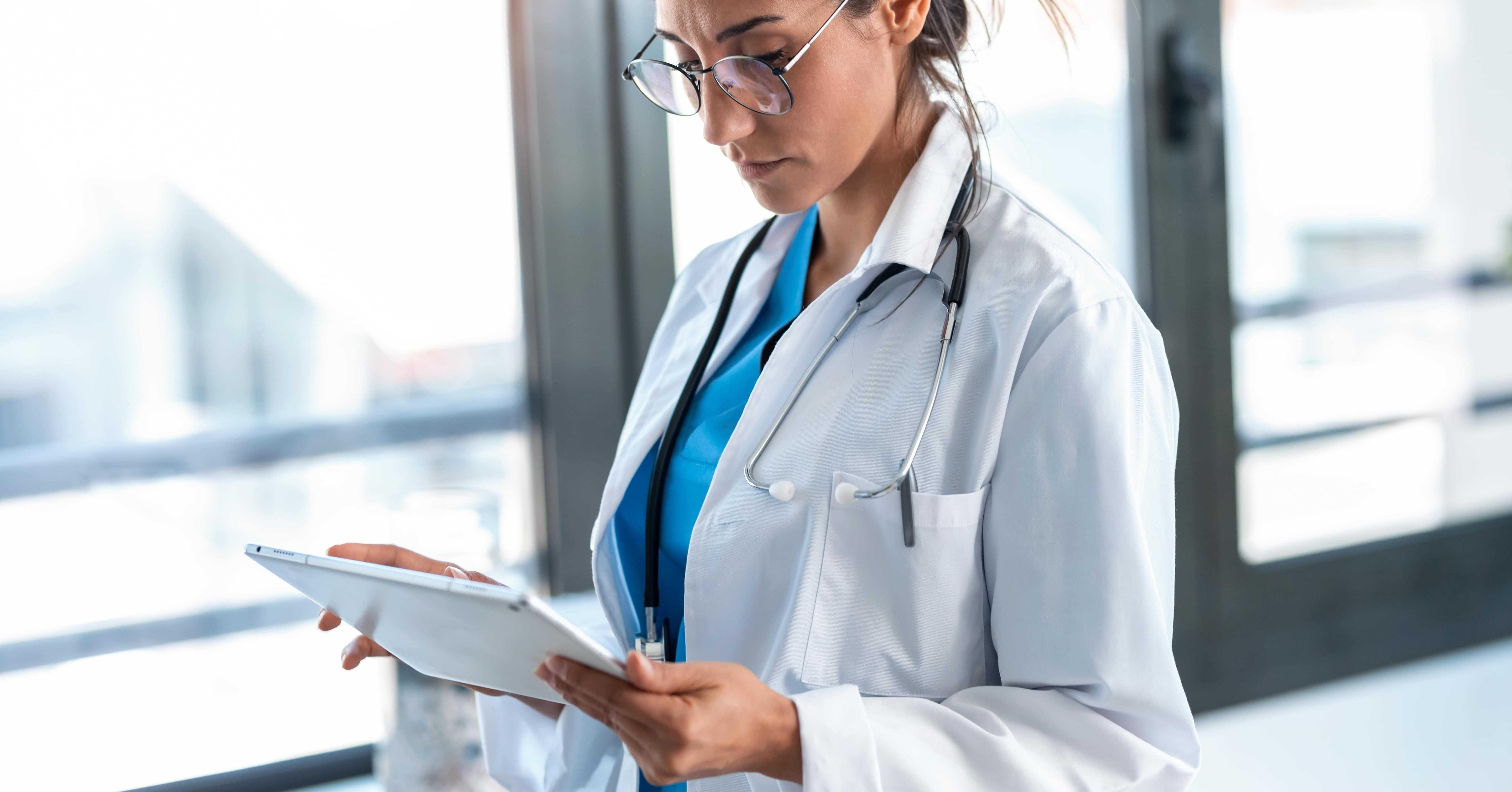 doctor using hospital wifi