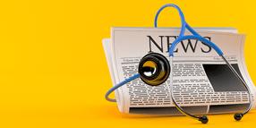 Stethoscope and newspaper
