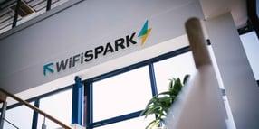 WiFi SPARK logo signage on wall