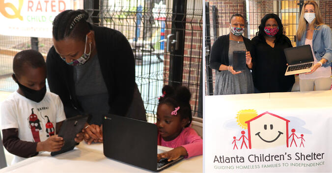 LogistiCare Partners with Atlanta Children's Shelter to Donate Digital Learning Devices and PPE for New Virtual School Academy