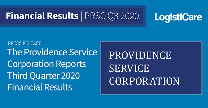 The Providence Service Corporation Reports Third Quarter 2020 Financial Results