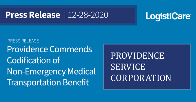 Providence Commends Codification of Non-Emergency Medical Transportation Benefit
