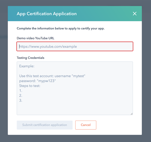 App certification application