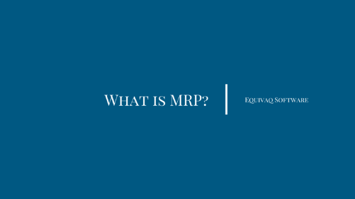 what is mrp blog