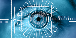Biometric technology eye scanner
