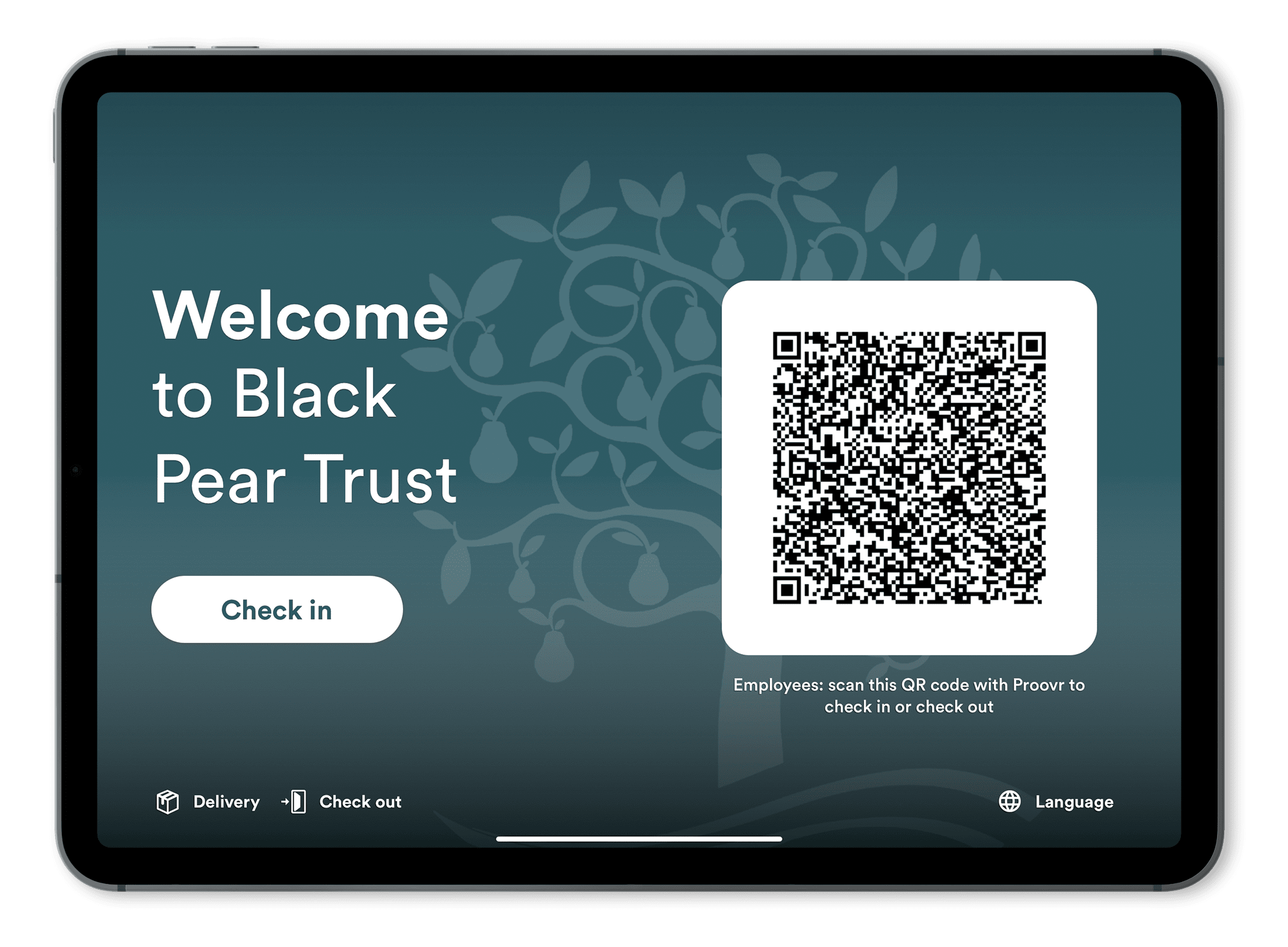 The Black Pear Trust Proxyclick employee check-in