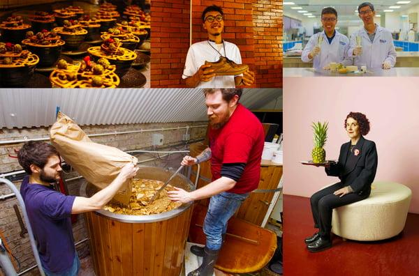 People and reused food waste