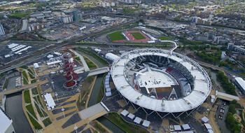 London Stadium Olympics half install