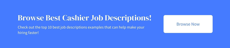cashier job descriptions