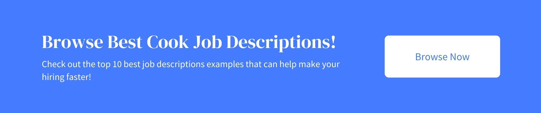 best cook job descriptions