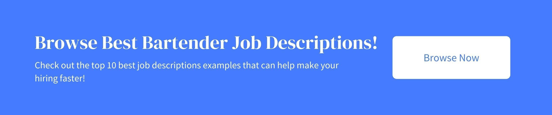 best bartender job descriptions