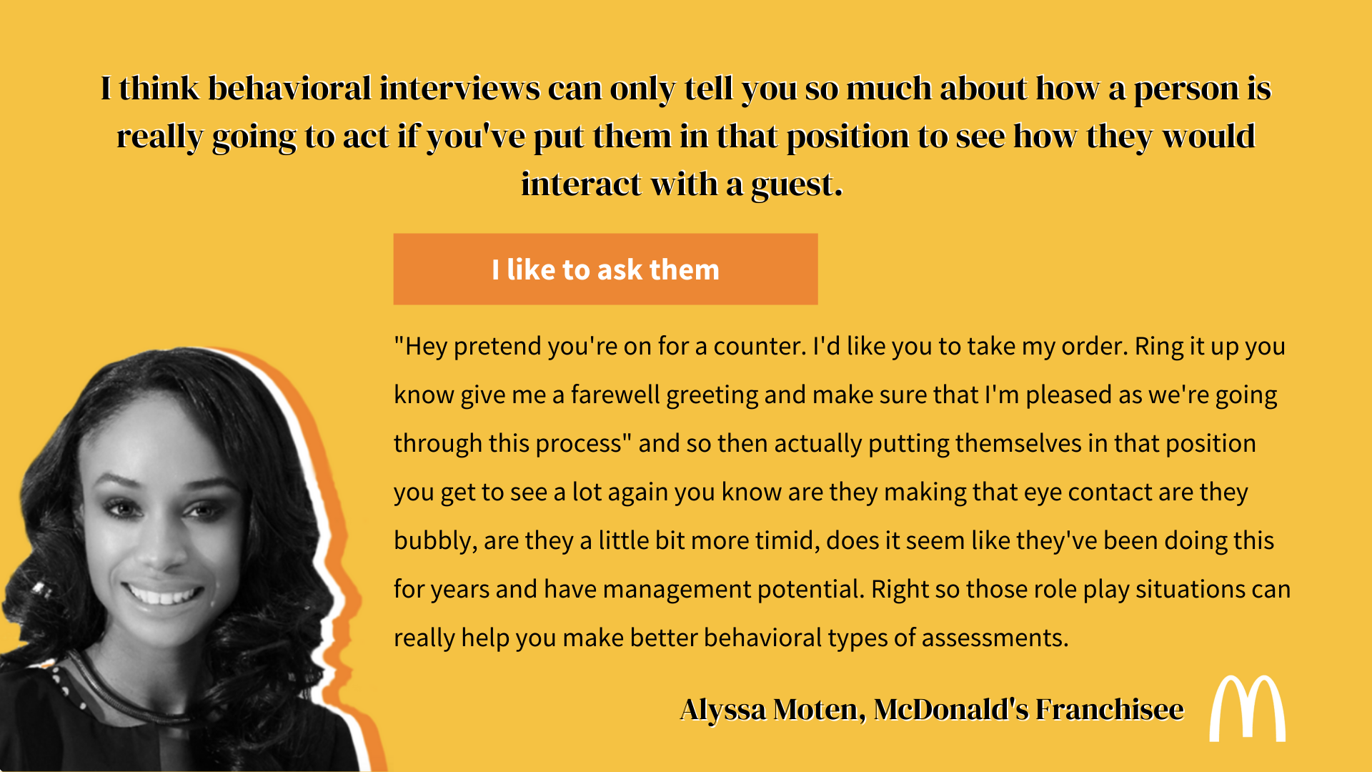 behavioral interview questions mcdonalds