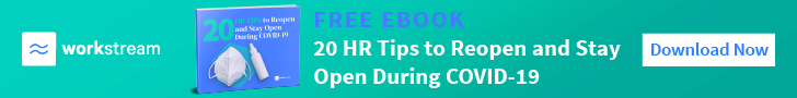Workstream eBook on 20 HR tips to reopen and stay open during COVID-19