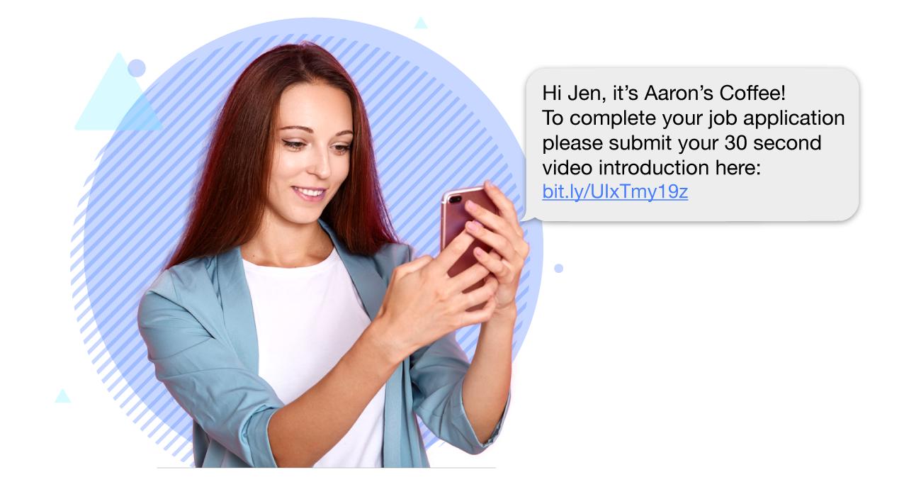 video interview through text