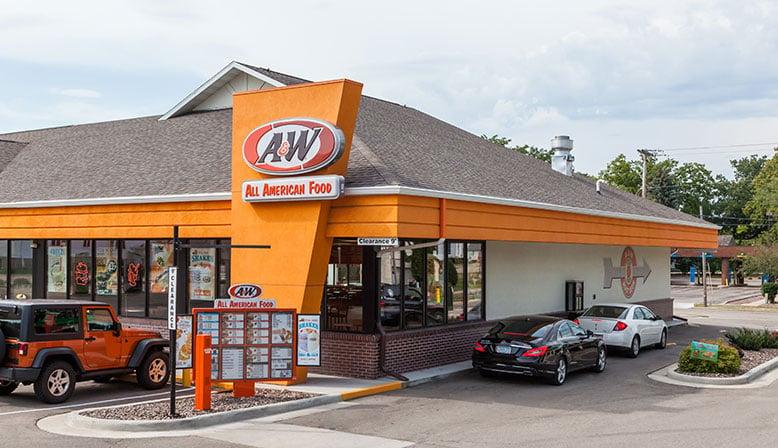 a&w drive through