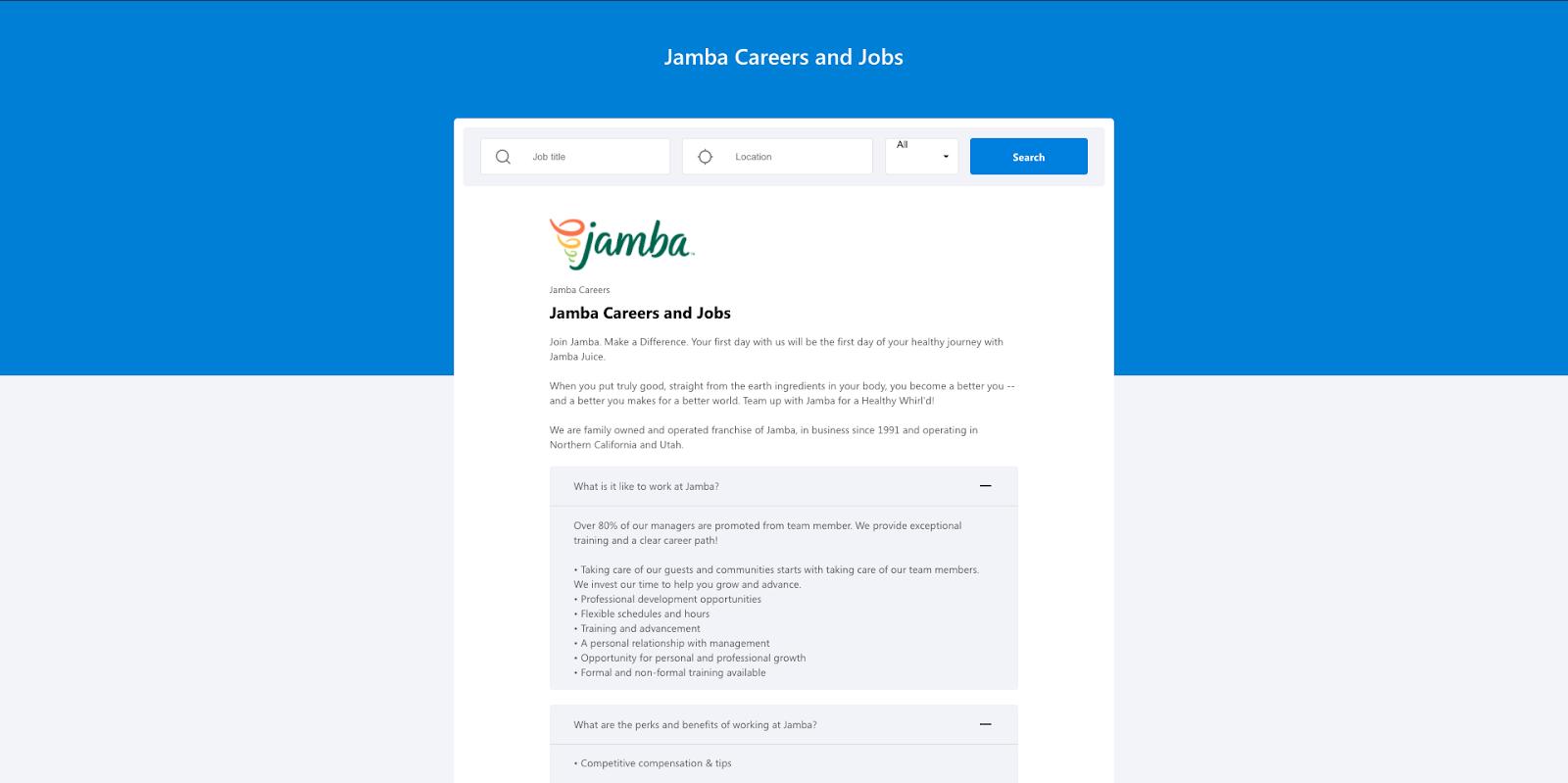 jamba careers page