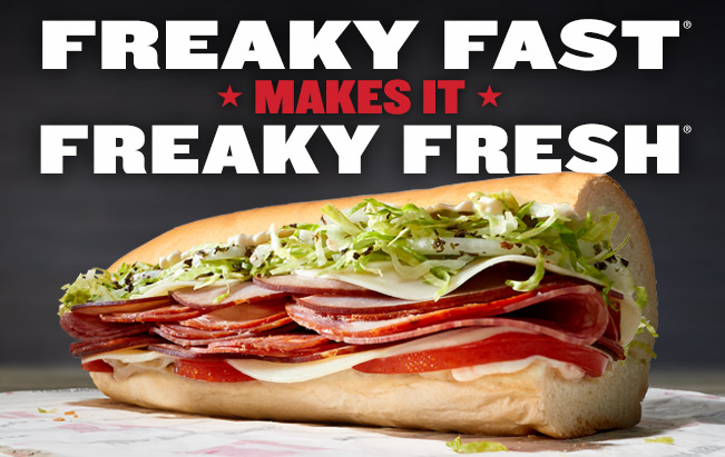 jimmy johns freaky fresh and freaky fast campaign