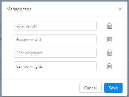 merge tags workstream