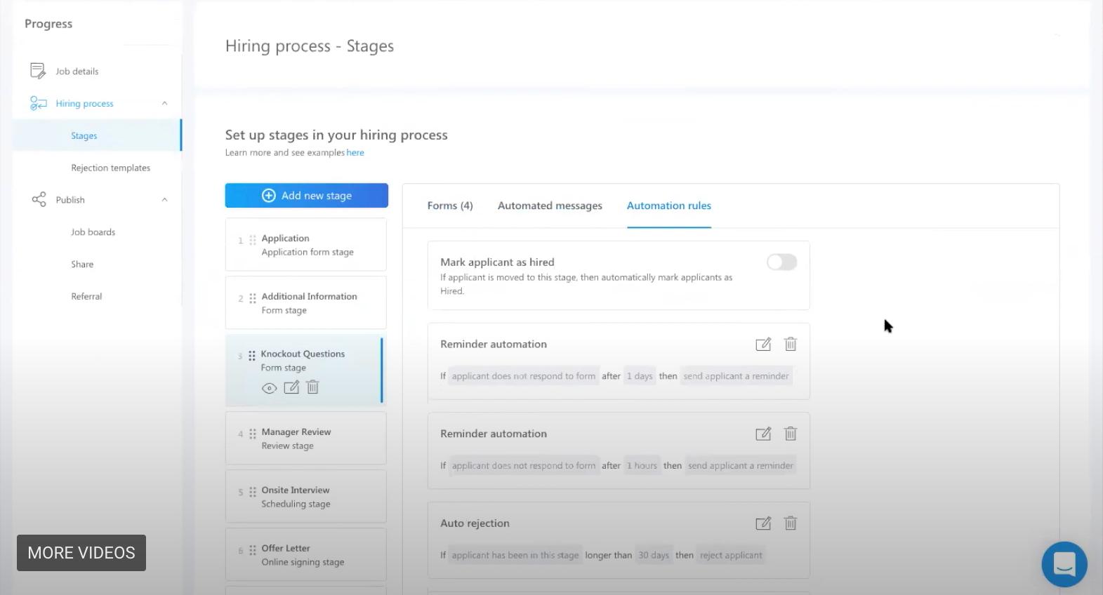 smart screening workstream hiring platform