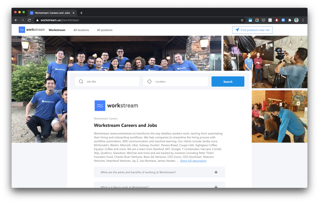workstream career and jobs page