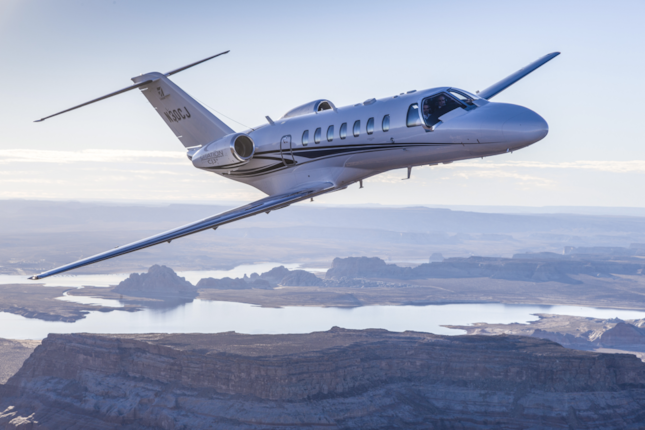 Cessna Citation CJ3+ in flight
