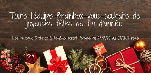 Joyeuses fêtes de fin d'année avec Brainbox
