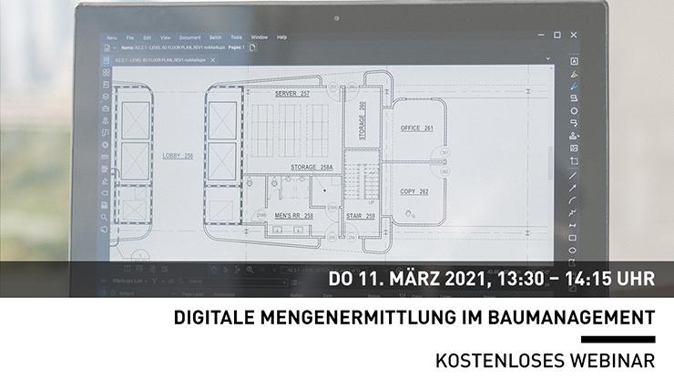 Webinar: Digitale Mengenermittlung im Baumanagement
