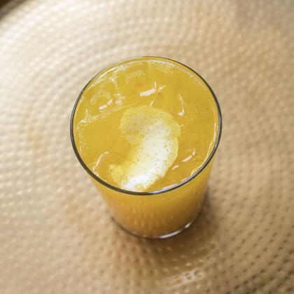 Turmeric Lemon Sparkler Recipe