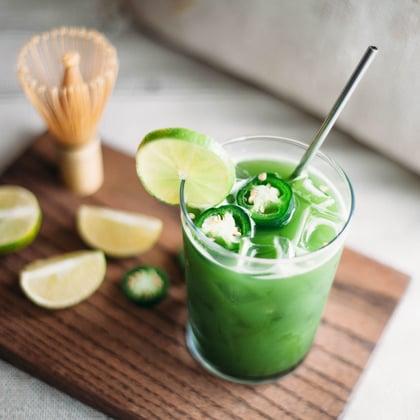 Matcha Jalapeno Soda Recipe