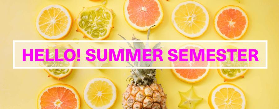 Hello Summer Semester