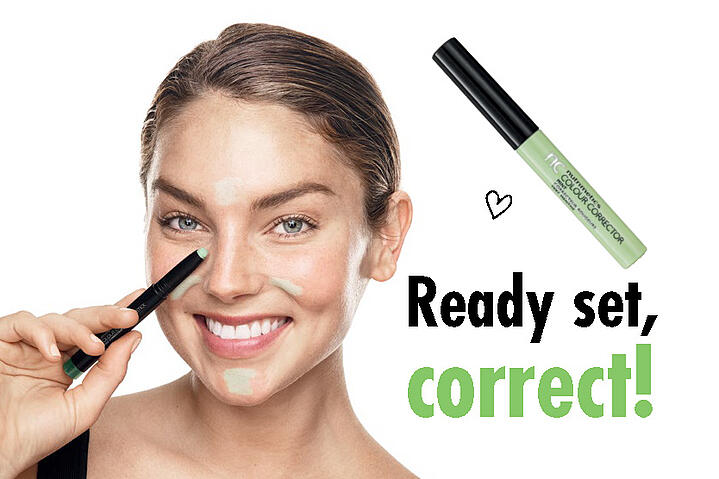 How to use a green corrector