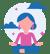 woman sitting in lotus pose practicing meditation