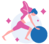 graphic of woman performing pilates