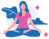 graphic of woman sitting in yoga pose
