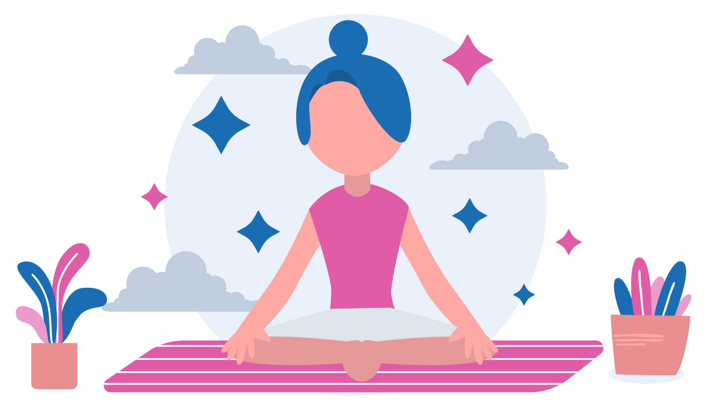 Girl sitting on a yoga mat, thinking of how to clean a yoga mat