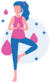 girl standing on one leg performing meditation to help with emotional health