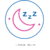 graphic crescent moon with snoring for improved sleep