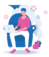 man sitting on chair with computer practicing mindfulness