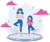 mother and child doing yoga poses listening to yoga music