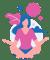 yoga nidra girl sitting in yoga pose practicing yoga nidra