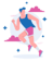 man running after doing yoga for runners