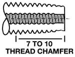 taper tap thread chamfer