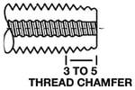 plug tap thread chamfer