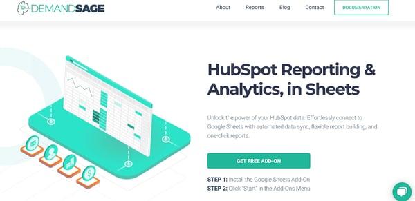 demand sage Custom Reporting Tool